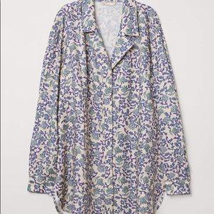 Oversized floral H&M shirt dress/tunic